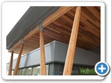 WOODEN CEILING APPLICATION OUTDOORS